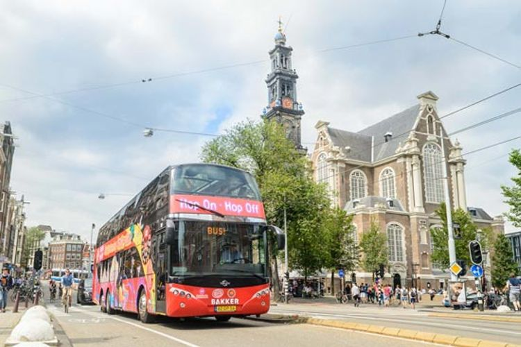 Hop-On/Hop-Off-Bustour Amsterdam + Boot